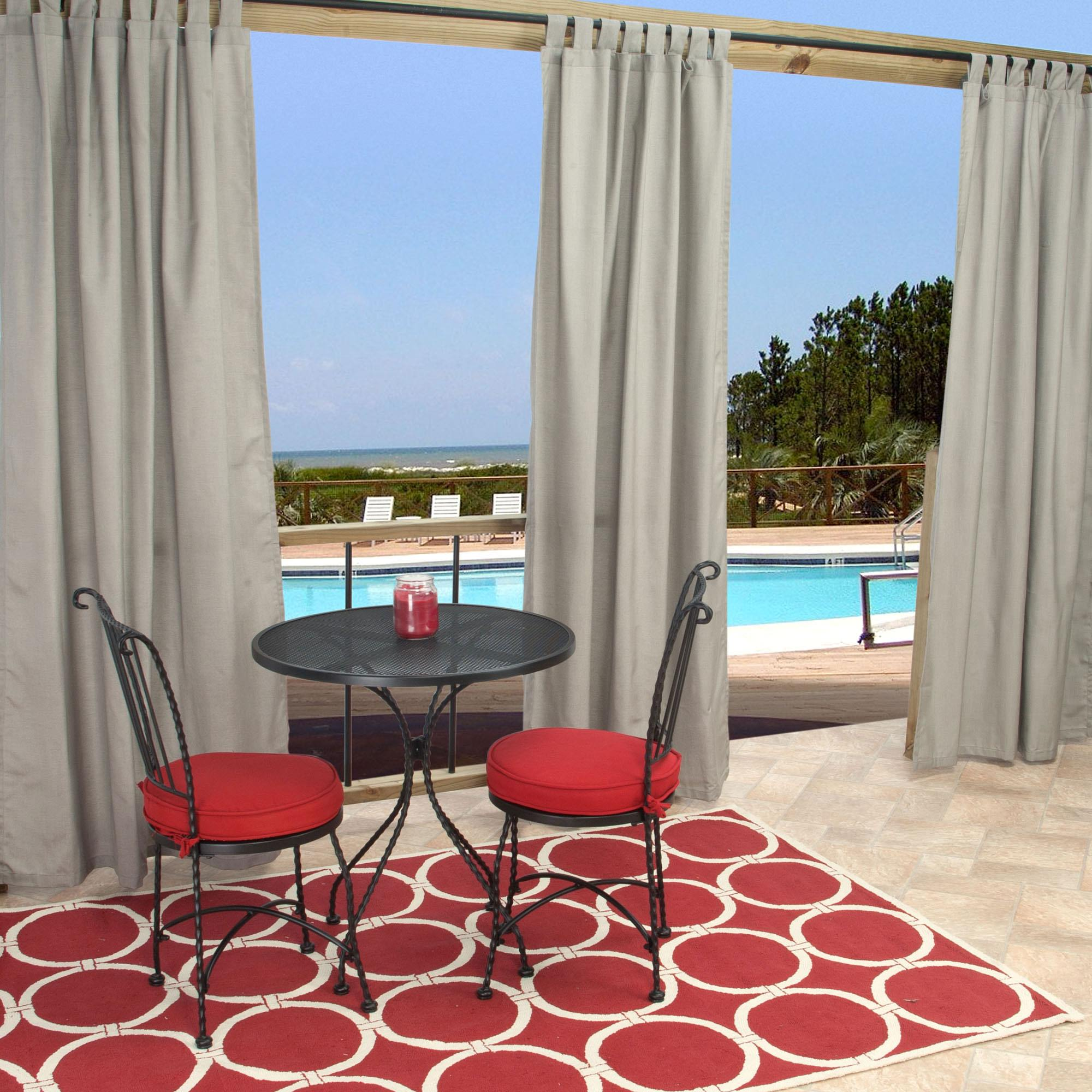 Sunbrella Spectrum Dove Outdoor Curtain With Tabs 50 In X 96 In Essentials By Dfo Sku