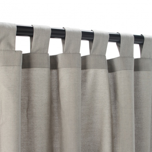 Sunbrella Spectrum Dove Outdoor Curtain with Tabs