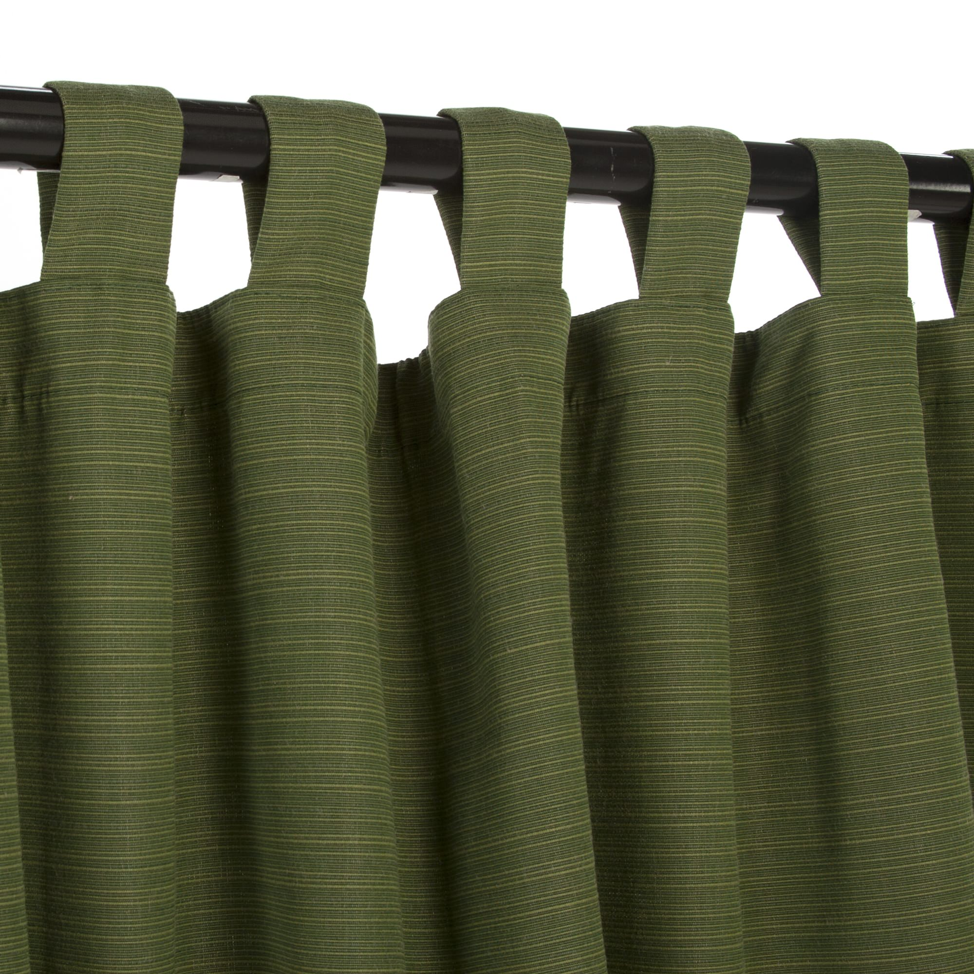 Dupione Palm Sunbrella Outdoor Curtain With Tabs