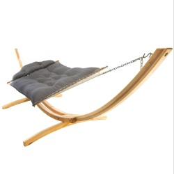 Large Tufted Hammock -Canvas Charcoal
