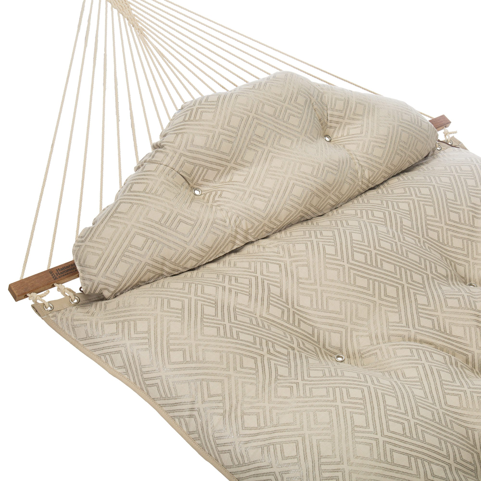 Large Tufted Hammock - Integrated Pewter by Hatteras Hammocks