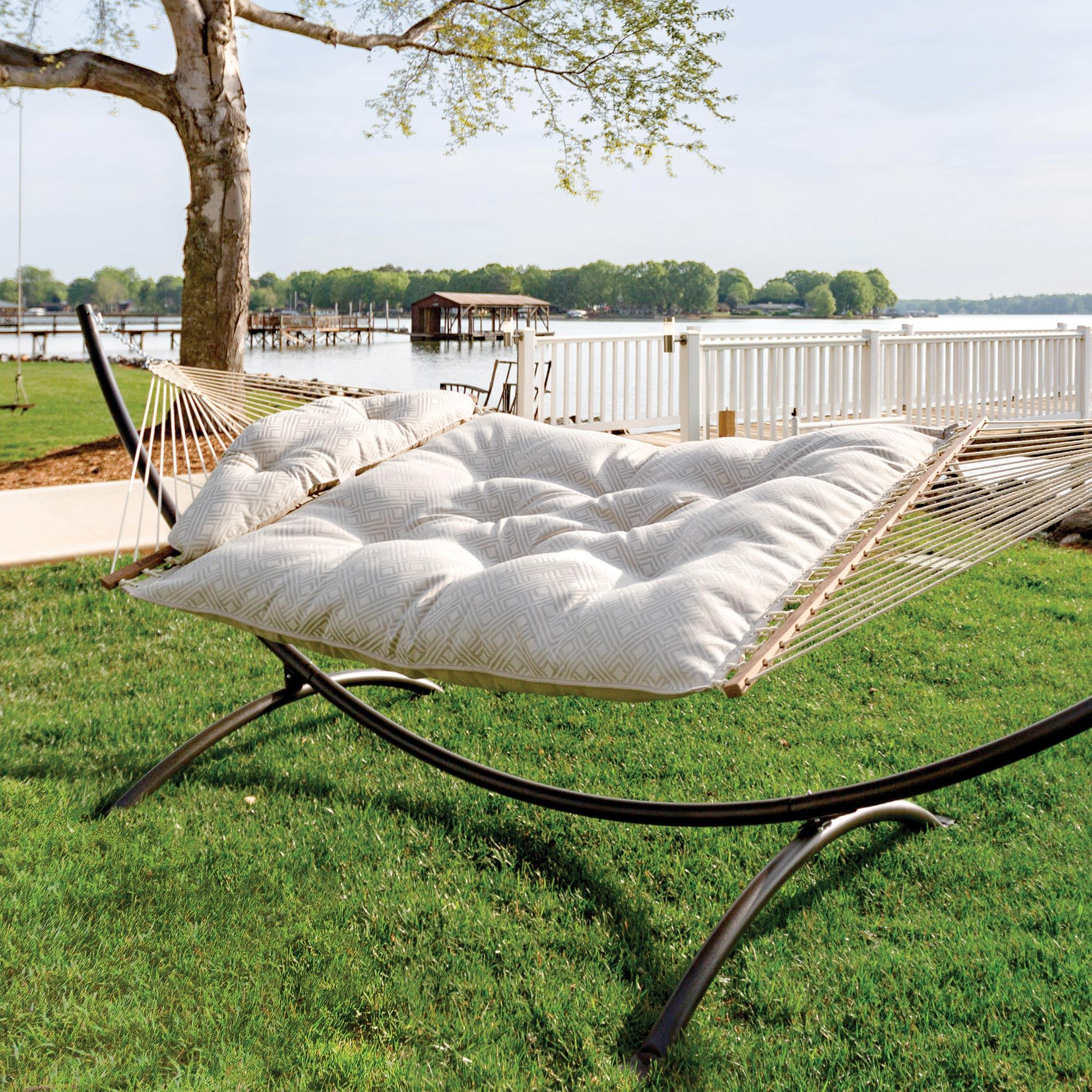 Large Tufted Hammock - Integrated Pewter