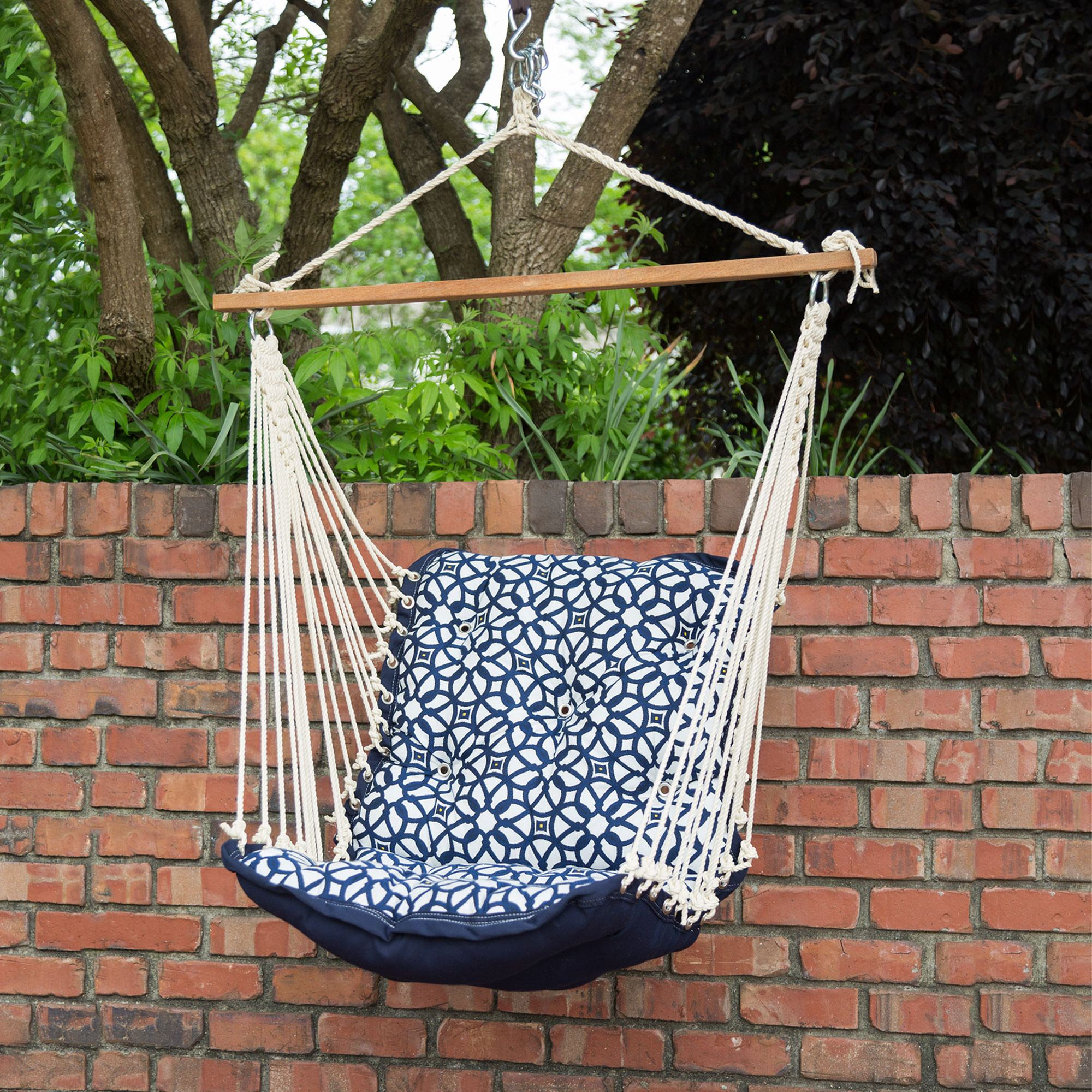 Tufted Single Swing Made with Sunbrella - Luxe Indigo