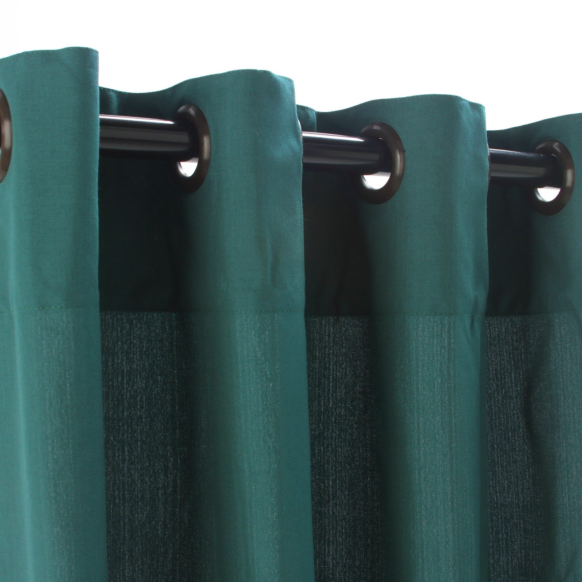 Weathersmart Outdoor Curtain With Grommets Emerald 50x120 Weathersmart Sku Cur120emgr