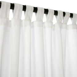 Canvas White Sunbrella Outdoor Curtain with Tabs
