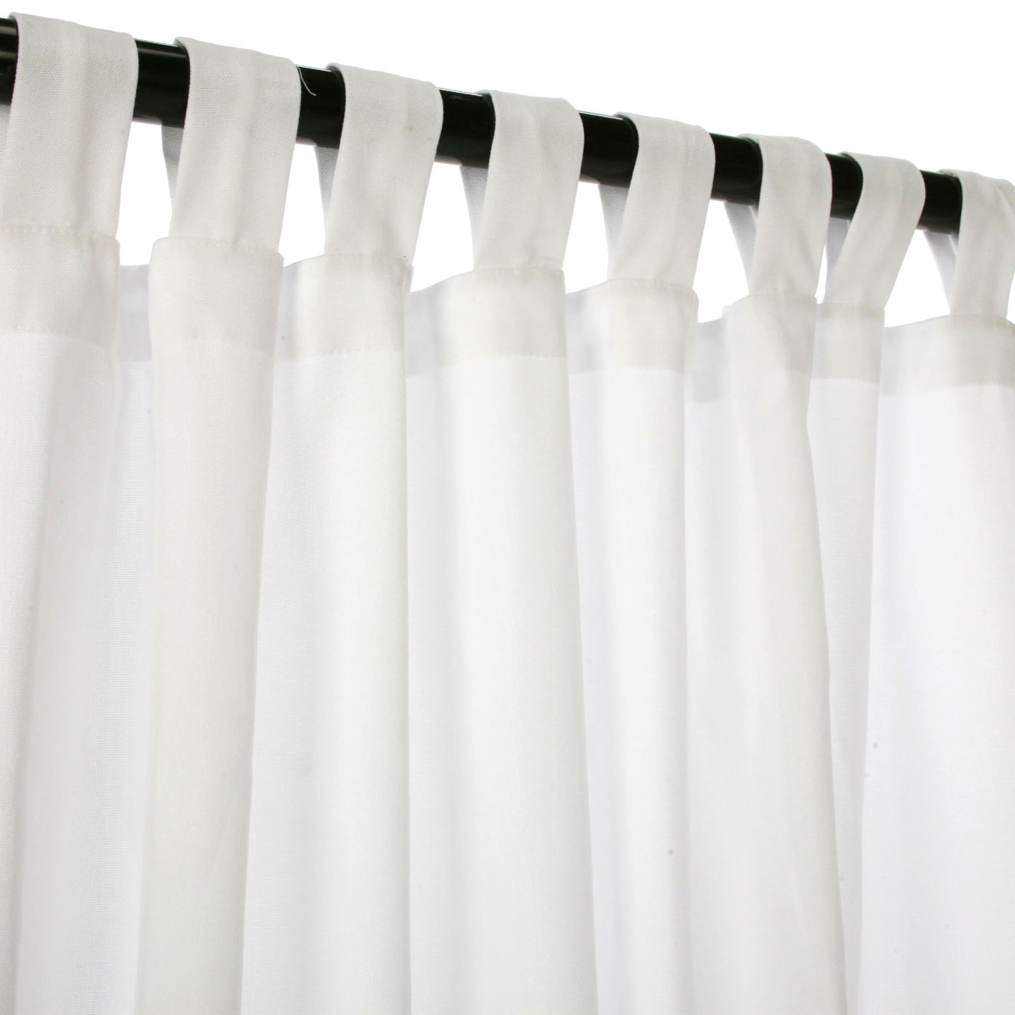 White Tab Top Curtains