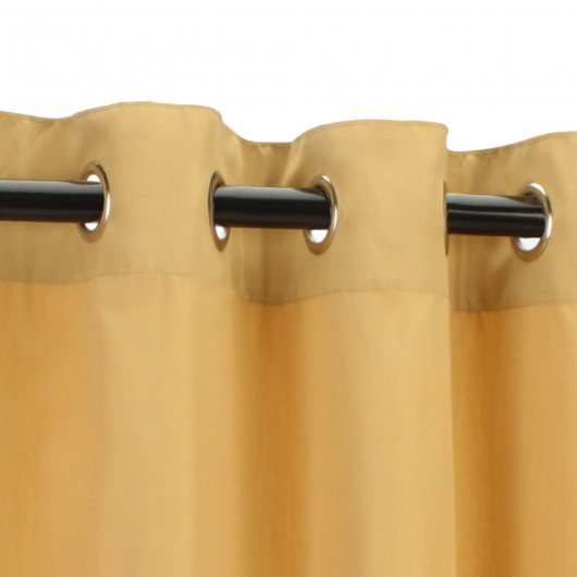 Sunbrella Canvas Wheat Outdoor Curtain with Nickel Plated Grommets