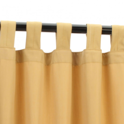 Sunbrella Canvas Wheat Outdoor Curtain with Tabs