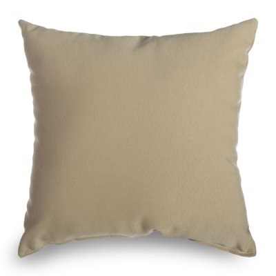 Antique Beige Sunbrella Square Outdoor Throw Pillow (16 in. x 16 in.)