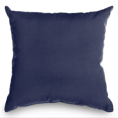 Navy Blue Sunbrella Outdoor Throw Pillow (16 in. x 16 in.)