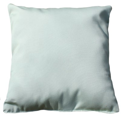 Canvas Celadon Sunbrella Outdoor Throw Pillow 19 in. x 19 in. Square