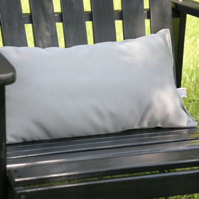 Charcoal Grey Outdoor Throw Pillow 19 in. x 10 in. Rectangle/Lumbar