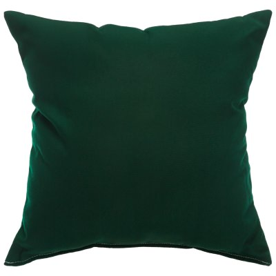 Canvas Forest Green Sunbrella Designer Porch Pillow