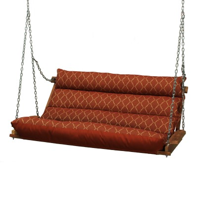 Deluxe Cushion Double Swing Made with Sunbrella - Arch Brick