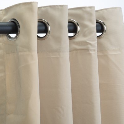 Sunbrella Canvas Antique Beige Outdoor Curtain with Grommets