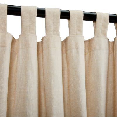 Sunbrella Sheer Honey Outdoor Curtain with Tabs