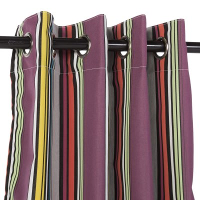 Sunbrella Icon Mystique Outdoor Curtain with Nickel Plated Grommets