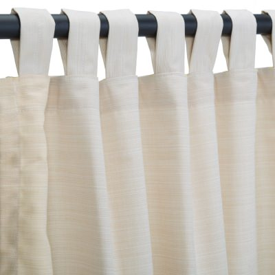 Sunbrella Dupione Pearl Outdoor Curtain with Tabs