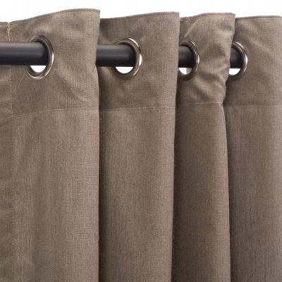 Sunbrella Cast Shale Outdoor Curtain with Grommets
