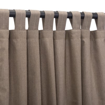 Sunbrella Cast Shale Outdoor Curtain with Tabs