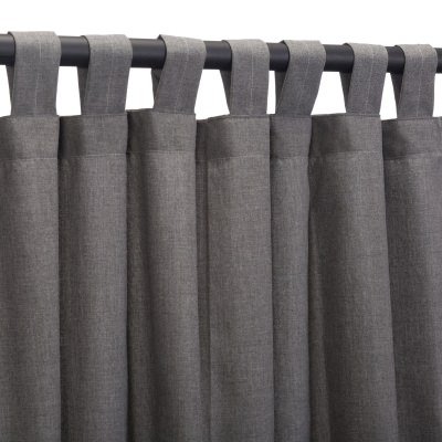 Sunbrella Cast Slate Outdoor Curtain with Tabs