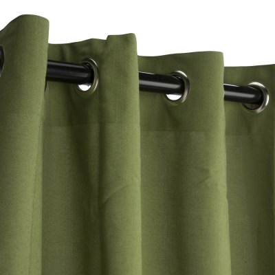 Sunbrella Spectrum Cilantro Outdoor Curtain with Grommets