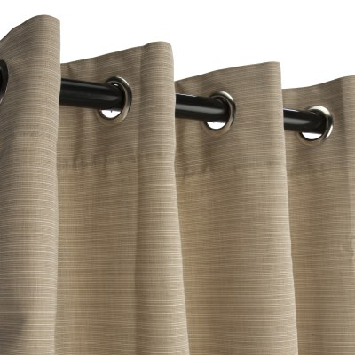 Sunbrella Dupione Sand Outdoor Curtain with Grommets