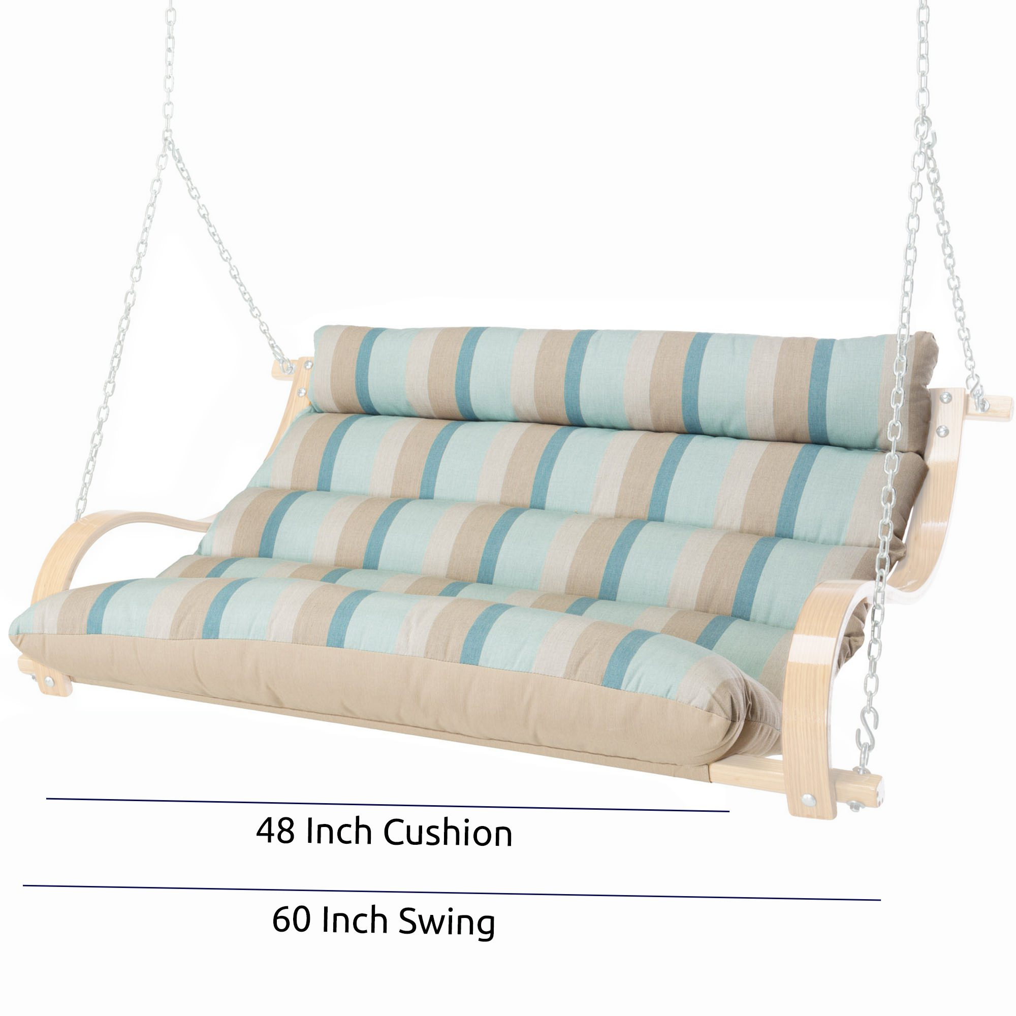 48 Inch Replacement Cushion For 60 Inch Wide Deluxe Double Swing