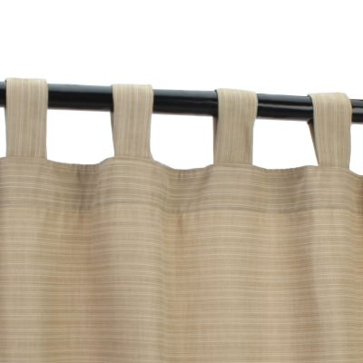 Sunbrella Dupione Sand Outdoor Curtain with Tabs