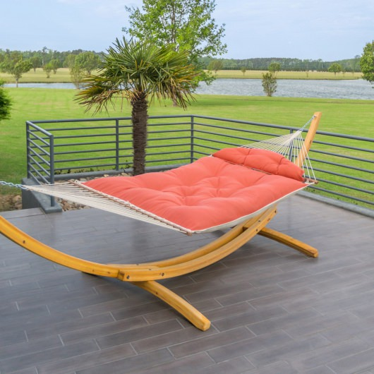 Tufted Hammock with Original Roman Arc II Cypress Stand