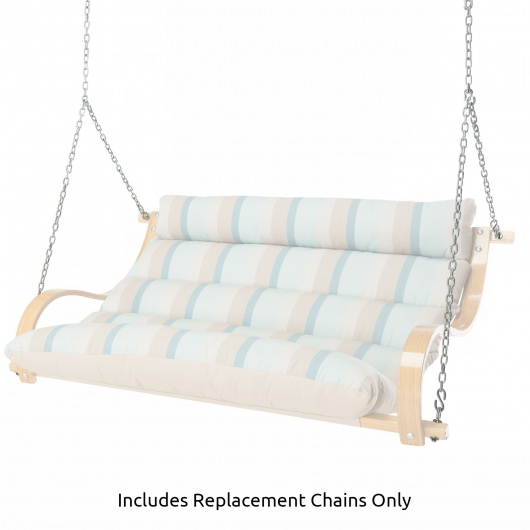 Chain Assembly for Curved Oak Arm Double Cushion Swing