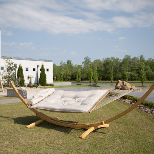 Large Sunbrella Tufted Hammock - Integrated Pewter