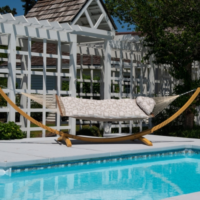 Large Sunbrella Tufted Hammock - Resonate Dune