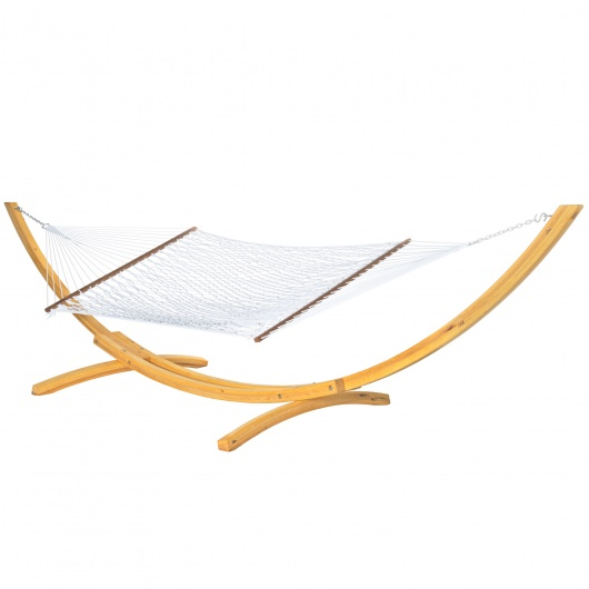 Large White Polyester Rope Hammock