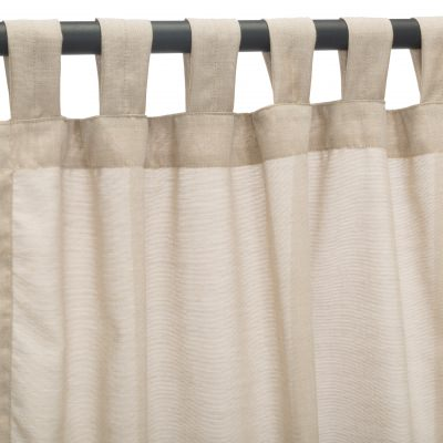 Sunbrella Sheer Wren Outdoor Curtain with Tabs