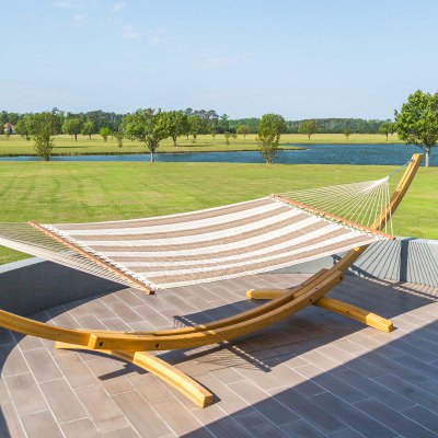 Large Sunbrella Quilted Hammock - Regency Sand