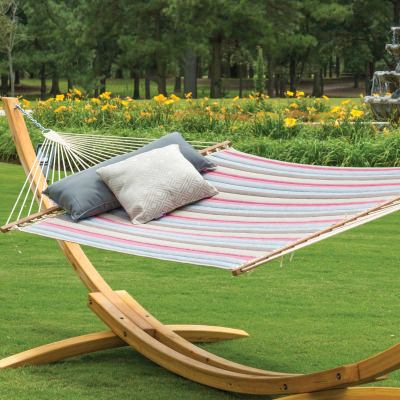 Large Sunbrella Quilted Hammock - Gateway Blush