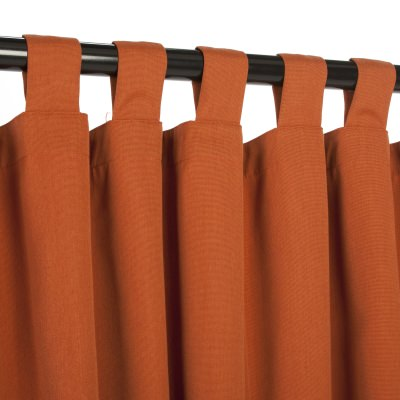 Sunbrella Canvas Rust Outdoor Curtain with Tabs