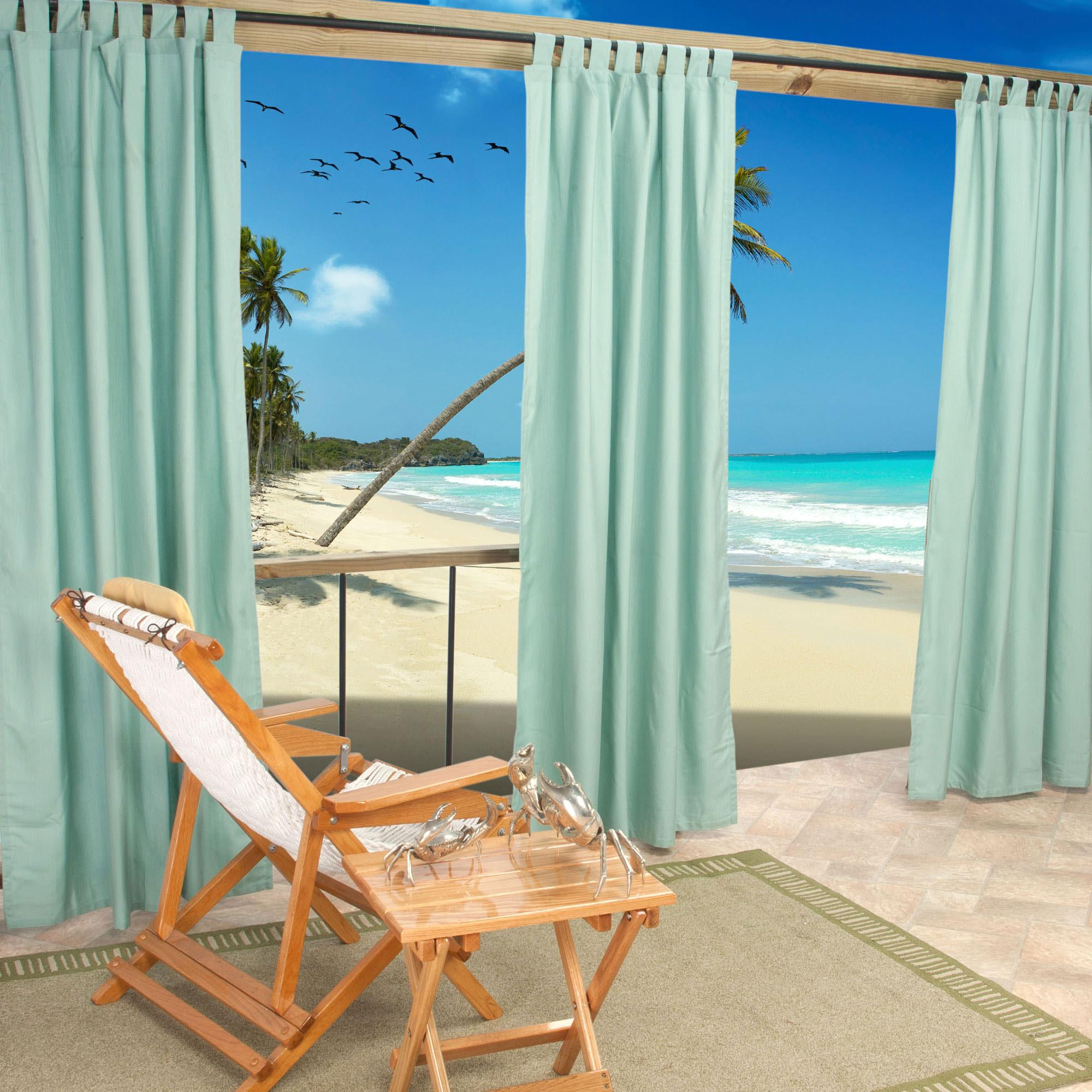 Sunbrella Spectrum Mist Outdoor Curtain With Tabs 50 In X 96 In Essentials By Dfo Sku Cur96mss Curtains