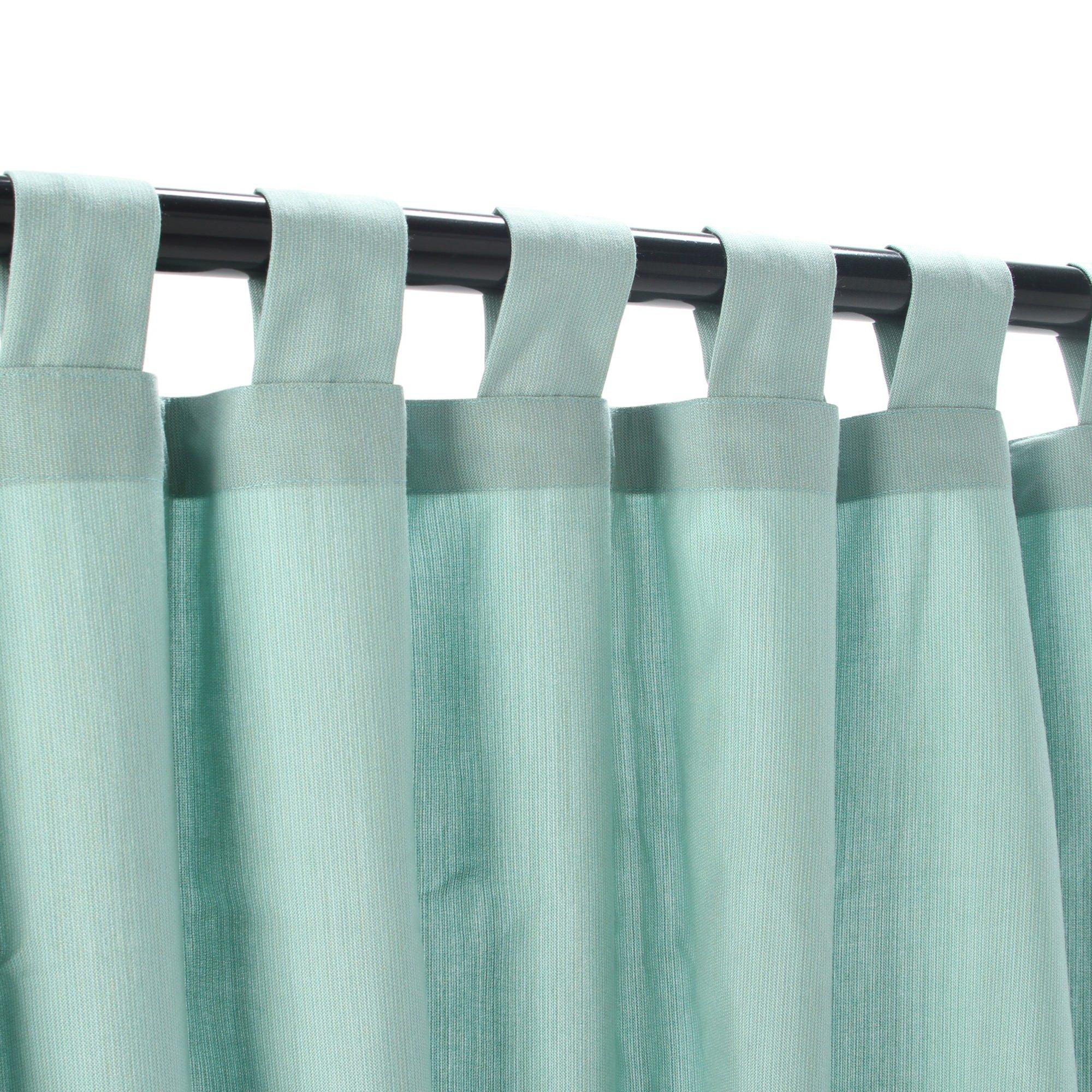 Mist Tabbed Sunbrella Outdoor Curtains