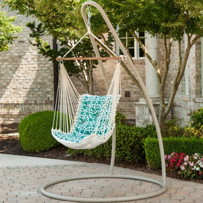 Tufted Sunbrella Single Swing - Bevel Lagoon