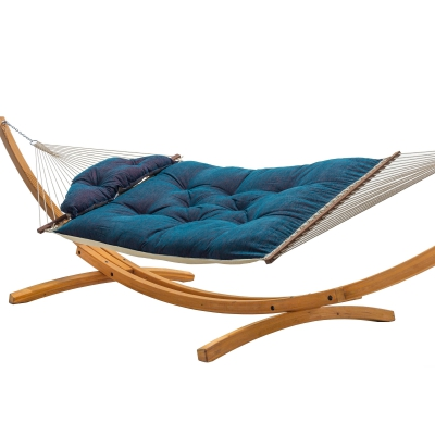 Large Sunbrella Tufted Hammock with Detachable Pillow - Platform Horizon