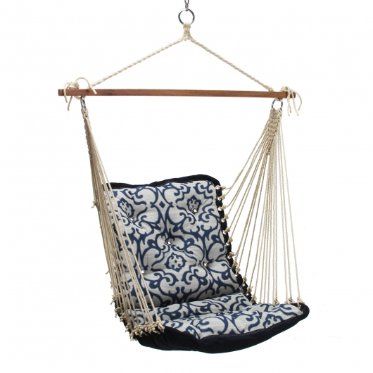 Tufted Single Swing - Royal Blue Vine