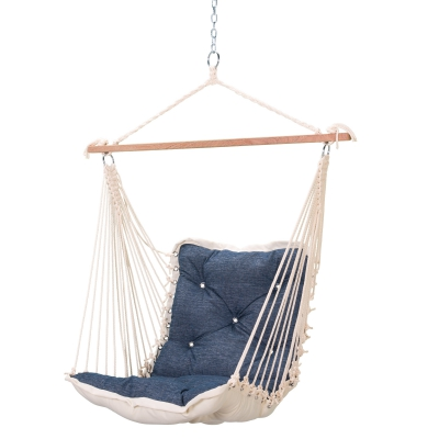 Tufted Sunbrella Single Swing - Platform Indigo