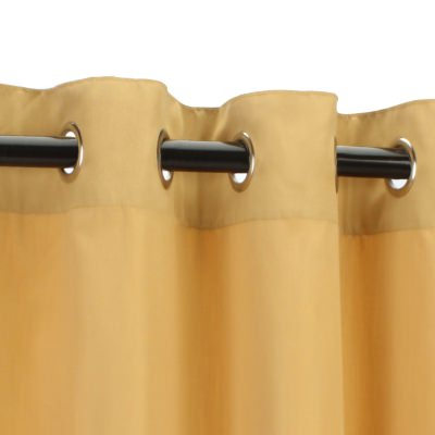 Sunbrella Canvas Wheat Outdoor Curtain with Grommets